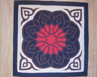 Pillow applique art, Egyptian, Handmade (1/10)