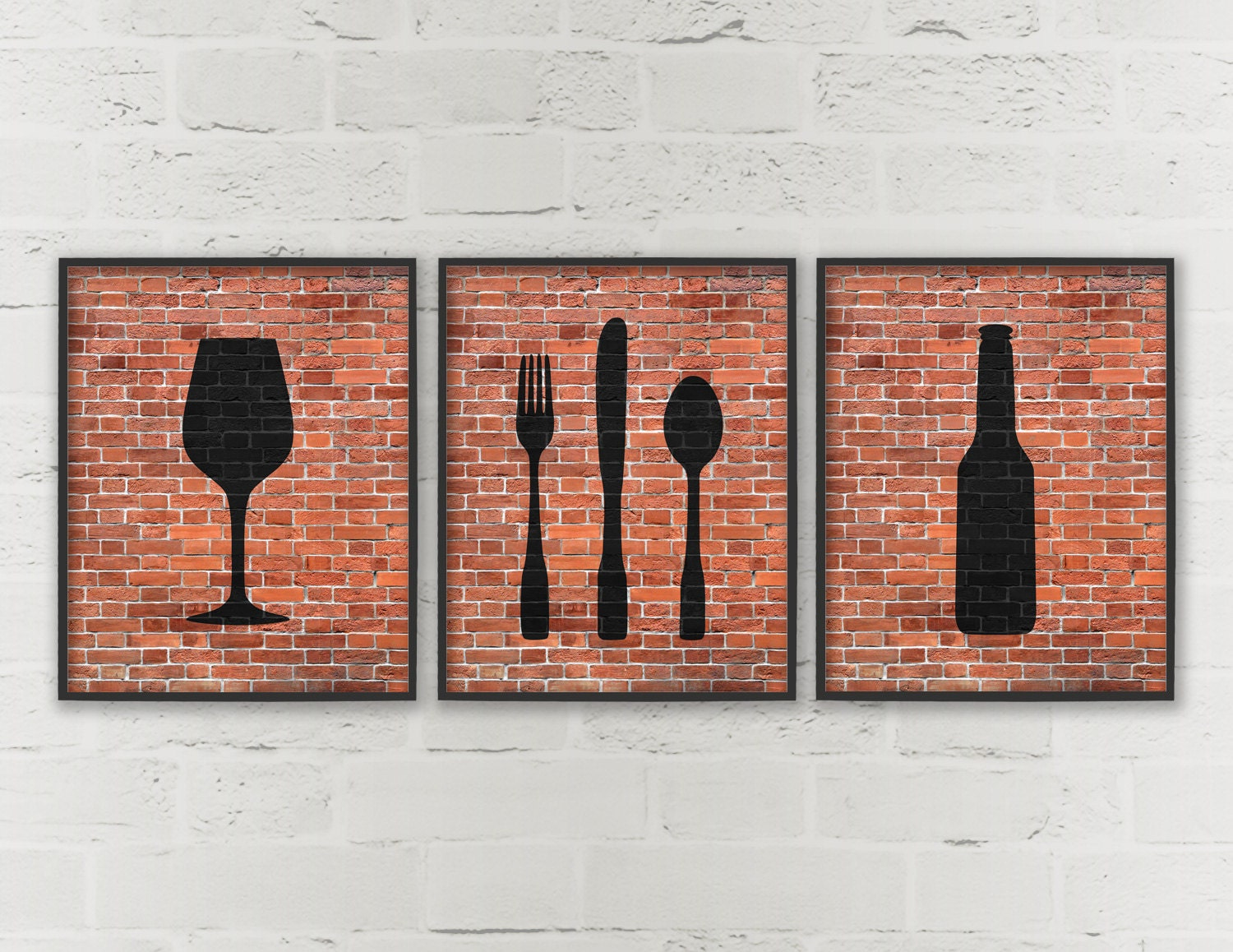 kitchen wall art kitchen prints wine fork knife spoon dining room 10245