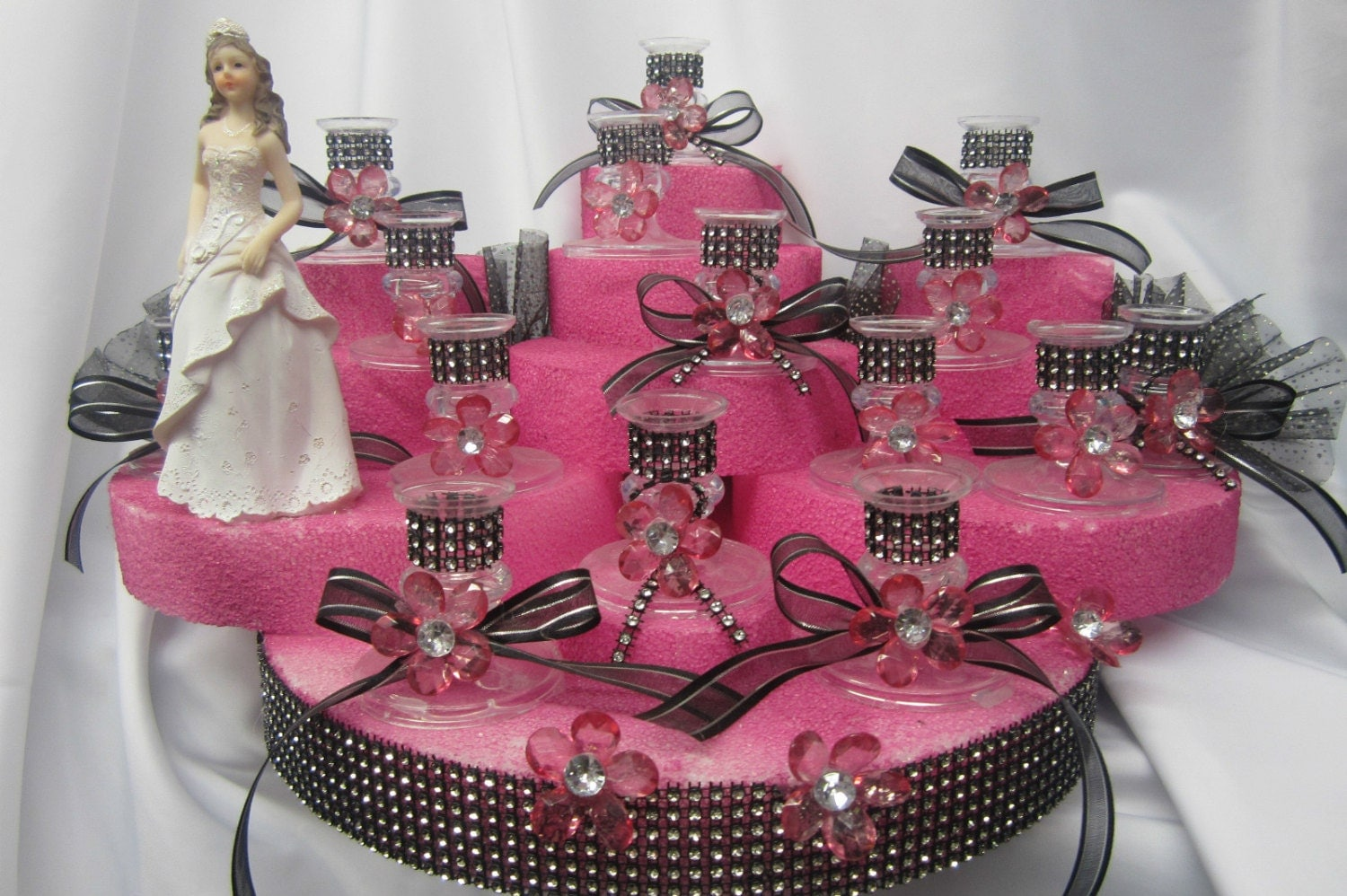 Sweet 16 candle holder centerpiece or cake topper keepsake for 16 birthday decoration