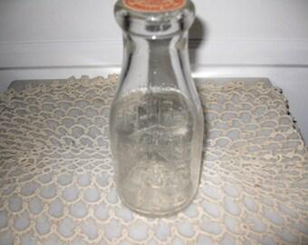 ANTIQUE ONE PINT Dolfingers Dairy Bottle