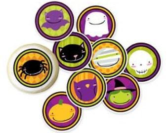 "Creepy Cuties Mini Edible Images-Package of 9 adorable 2 1/4"" Creepy Cuties Mini Edible Images."