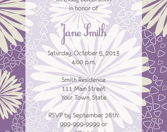 Purple & Cream Invitation