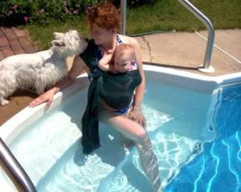 Custom Mesh Water Ring Sling--for pool, beach, and/or shower use