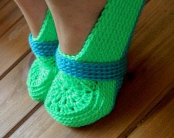 Instant download - PDF crochet pattern - Women crochet slipper # 34