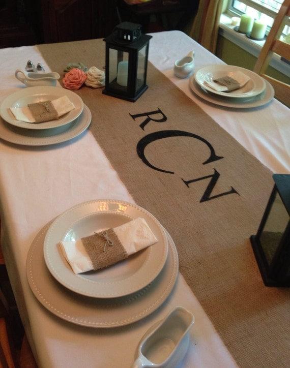 Wedding Gift Ideas For Runners : ... MonogramWedding runner Holiday decorating Home decor wedding gift