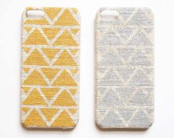 FABRIC - Geometric iPhone case, iPhone 6 case, iPhone 4s case, Linen iPhone case, Triangle iPhone case
