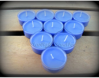 6 Lavender Scented Soy Tealight Candles