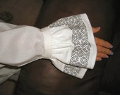 Renaissance Blackwork set of Cuffs to be worn with your white shirt
