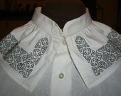 Renaissance Blackwork Collar to be worn with your white shirt