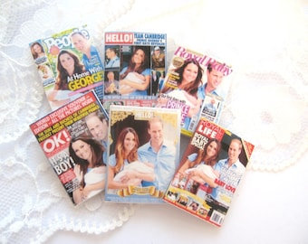 dollhouse royal baby magazine x 6  english royal family lakeland artist new