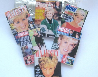 dollhouse royal princess Diana  magazine x 6 these are 12th scale not lifesize