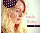 Custom Listing for Aurelie - Pretty Black Satin Hat With Bow
