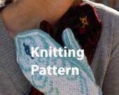 Yin and Yang Mittens KNITTING PATTERN