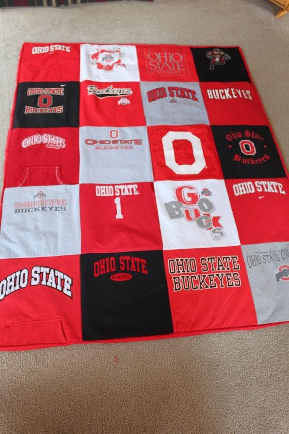 Ohio State University Buckeye T Shirt Quilt