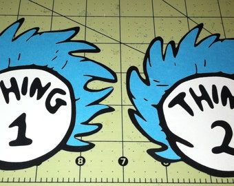 Thing 1 and Thing 2, Birthday party, Dr. Seuss, Scrapbook embellishment