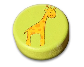 Drawer knobs - GREEN Nursery dresser knobs, Children Knobs, Kids KNOBS, Giraffe knob, Elephant knob, Hippo Knob, Turtle Knob,Hedgehog knob