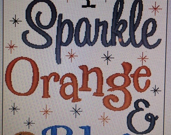 I Sparkle Orange and Blue with Basketball