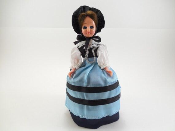 Vintage Swiss Costume Zurich Doll, Switzerland Doll, In Clear Plastic Display Package, Original Labels