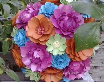 XL paper flowers wedding bouquet.