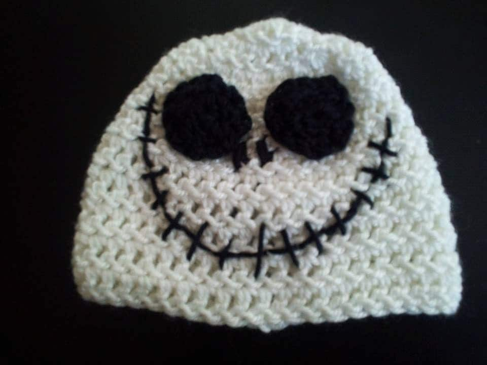 Jack Skellington Crochet Beanie Nightmare by PunkinPatchApparel