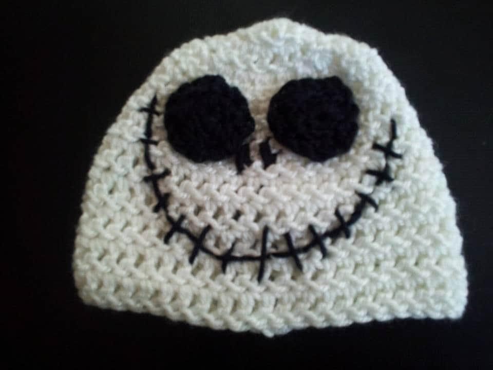 Crochet Jack Skellington : Jack Skellington Crochet Beanie Nightmare by PunkinPatchApparel