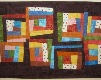 Wonky Colorful Wall Quilt
