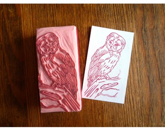 Rubber stamp owl