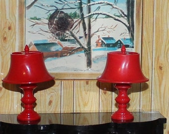 dollhouse lamp Jaydon plastic dollhouse furniture furniture old store stock three quarter scale