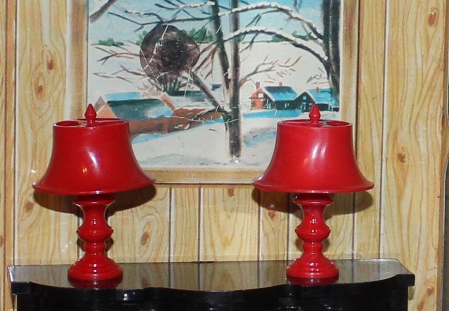 dollhouse lamp Jaydon plastic dollhouse furniture by prettydish