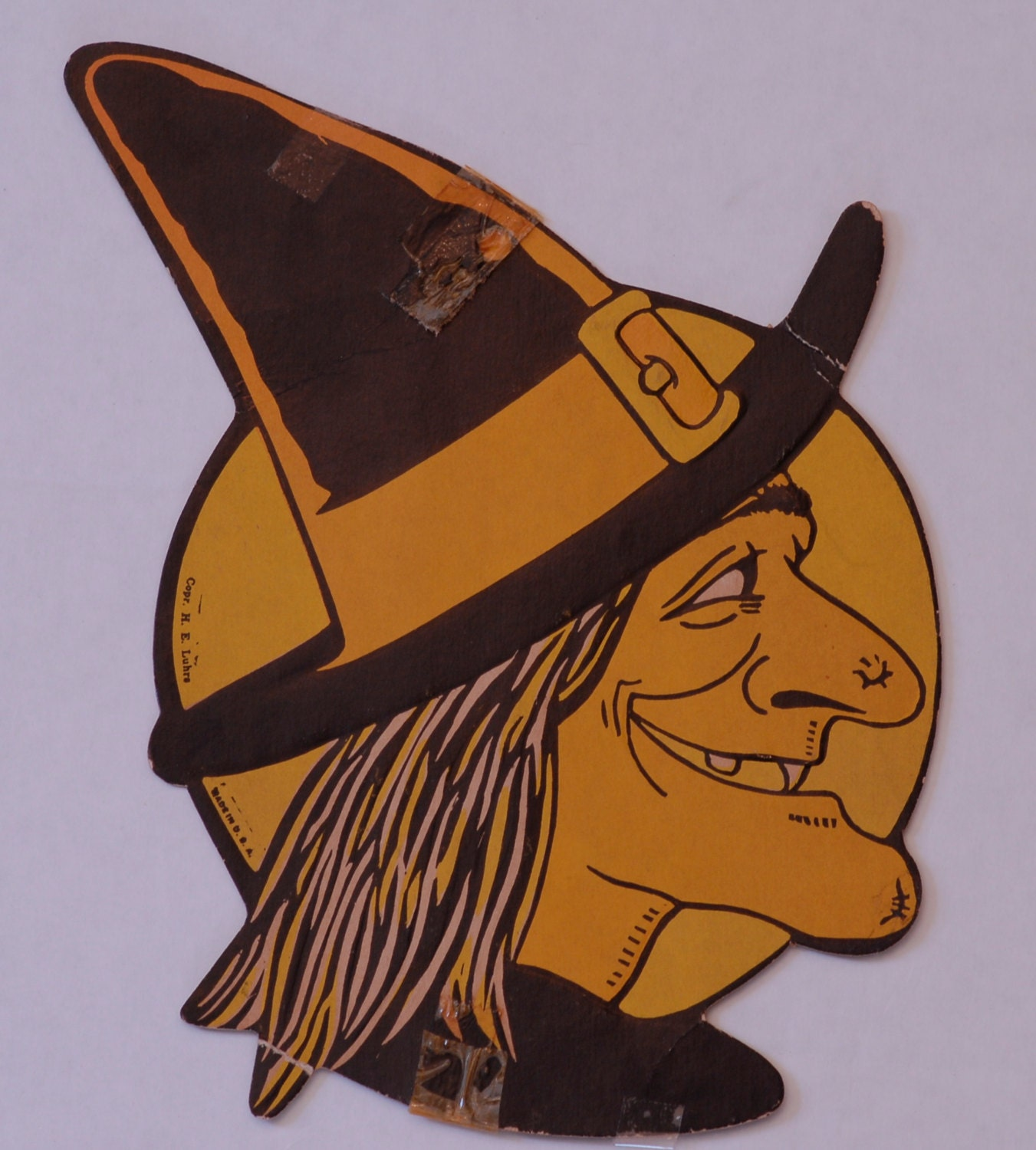 Vintage halloween decoration witch 1940s luhrs by for 1940s decoration