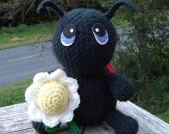 Chubby Little Ladybug Amigurumi Crochet Pattern PDF file