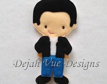 Ricky Doll Felt Embroidery Design