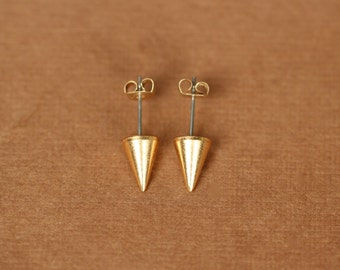 Gold spike earrings - spike studs - silver spike earrings - spike studs - stud earrings - point earrings