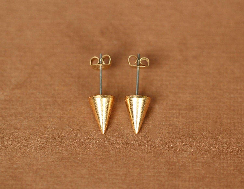 Gold spike earrings spike studs silver spike earrings