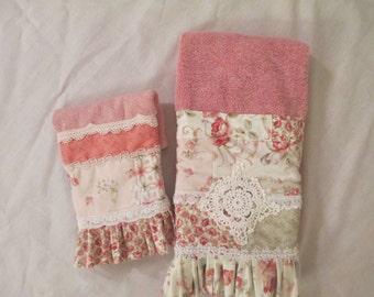 Shabby chic handmade towels