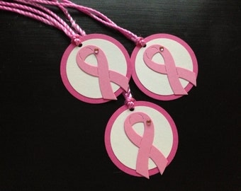 breast cancer awareness - breast cancer favor tags - breast cancer support - breast cancer gift tags - cancer awareness - pink ribbon