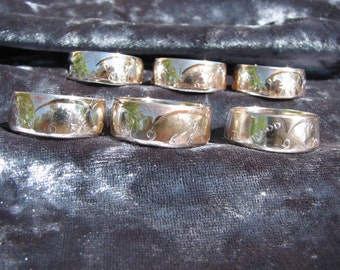 Silver coins made into rings. New coin ring. The last silver USA coins made. 40% Silver Half Dollar 1965,1966,1967,1968,1969,or 1970.