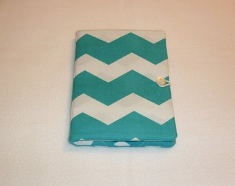 "Chevron tablet cover/case for the Kindle Paperwhite, Paperwhite 3G, Kindle 4, Kindle Touch, and the little 6 1/2"" X 5"" NOOK ereader."