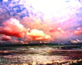 Ocean Sunset - Fine Art Print of Original Painting