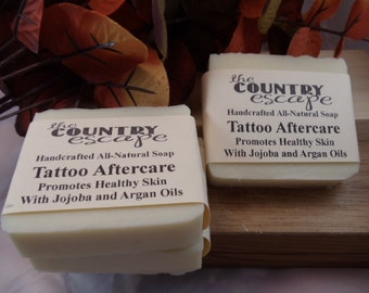 Tattoo Aftercare Soap -Skin Therapy for Inflammation - Great Lather - Handcrafted - Organic - Vegan - Natural Soap - Paraben Free