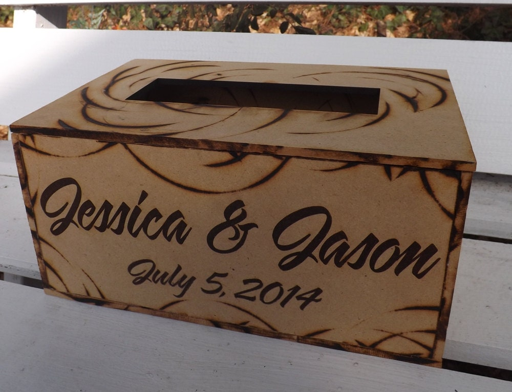 Wooden Wedding Gift Card Box : Engraved Rustic Wood Card Box Wedding by BVDesignsonline on Etsy