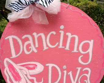 Dancing Diva Wooden Door Decoration