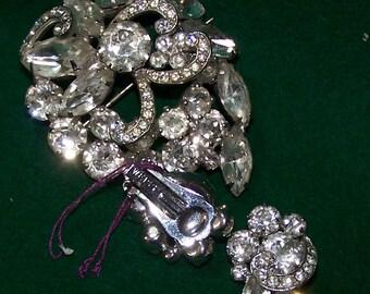Beautiful Weiss Brooch & Earrings