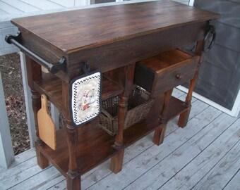wood kitchen island | etsy