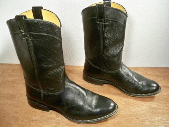 vintage nocona black soft leather s cowboy western by
