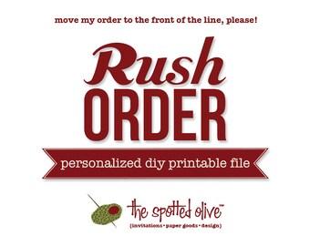 Rush My Personalized DIY Printable File Order