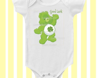 Care Bears Good Luck 1980's inspired Baby Bodysuit by Simply Baby