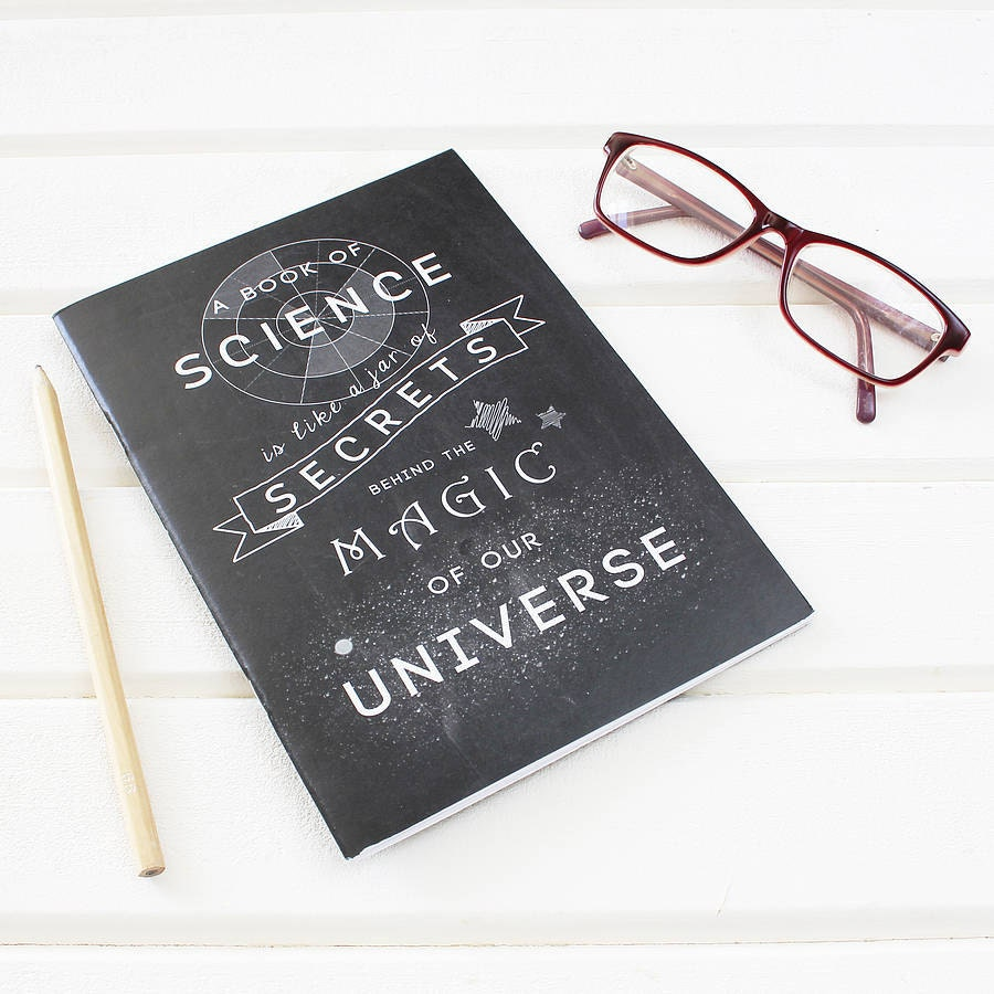 science magic notebook science chalkboard typography plain