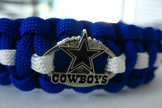 Dallas Cowboys Paracord Bracelet With Licensed Charm Double
