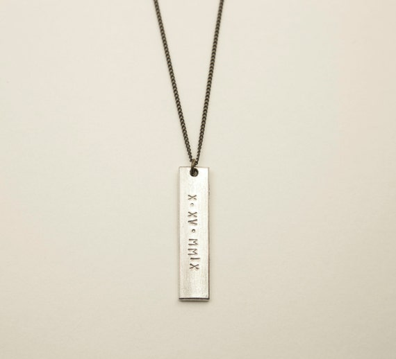 SILVER BAR Necklace  //  Blank or Personalized Tag on Your Choice of Chain  //  Personalized Mens Necklace //  Customized Rectangle Bar